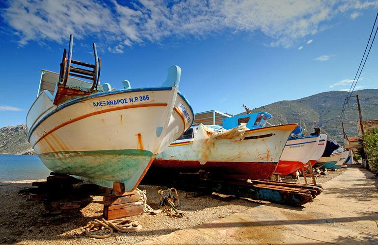 bateaux du port de Symi